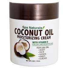 buy Coconut Oil Moisturizing Cream with Vitamin E for Dry & Sensitive Skin.